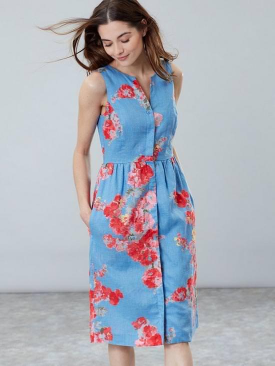 Lisia Floral Linen Dress