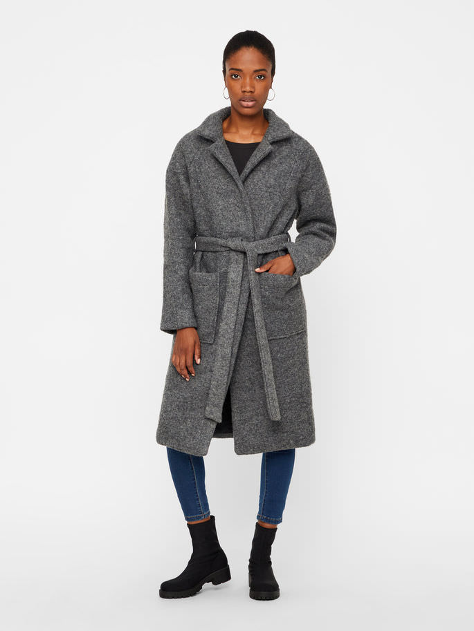long wool coat with pockets
